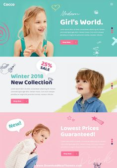 Buy Cocco - Kids Store and Baby Shop Theme by Mikado-Themes on ThemeForest. Make a powerful eCommerce website with Cocco! This theme enables you to build a charming website for your kids store. Kids Graphic Design, Ad Design, Layout Design, Design Model, Modern Design, Banner Design Inspiration, Web Banner Design, Web Banners, Wordpress Theme