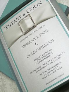 Tiffany Collection Boxed Wedding Invitation by anistadesigns, $11.50