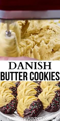 Chocolate Butter Cookie Recipe, Butter Recipe, Yummy Cookies, Soft Butter Cookies Recipe, Baking Recipes, Cookie Recipes, Dessert Recipes, Danish Butter Cookies, Homemade Butter
