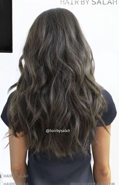 Dark Ash Brown Balayage Hair Grey Color