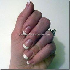 DIY French Tip Manicure DIY Nails Art