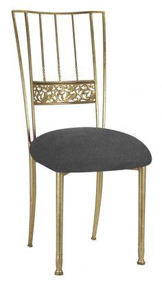 Gold+Bella+Fleur+with+Charcoal+Suede+Cushion+#events+#eventdesign+#eventdecor+#weddingideas+#eventprofs+#wedding+#weddingdecor+#chairdesign+#chairs+#weddingchairs