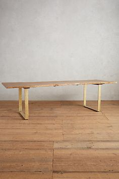 Anthropologie Smoked Oak Dining Table