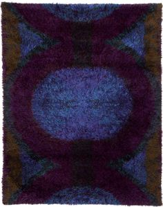 Ritva Puotila: designer, Finnrya: maker ::: Kesäyö: Summer Night ::: wool ::: 174 cm x 135 cm ::: Finland ::: 1962