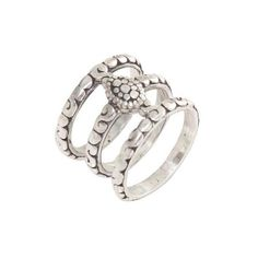 NOVICA Hand Made Sterling Silver 3 Band Ring from Indonesia ($50) ❤ liked on Polyvore featuring jewelry, rings, sterling silver, toplevelcatrings, novica jewelry, handcrafted sterling silver rings, sterling silver jewelry, band jewelry and sterling silver rings