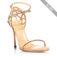 Sergio Rossi Strappy Evening Sandals - Puzzle High Heel