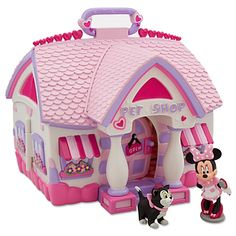 Oh Jimena would love this!! Minnie Mouse Pet Shop Play Set