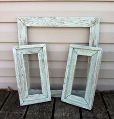 Barn Wood Empty Frame Group Mint Green by RepurposedTreasure4U, $29.50: add the DIY window coffee table to these frames.