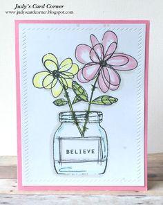 Judy's Card Corner: CAS on Sunday: Believe