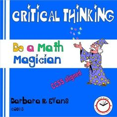 It will take lots of magical thinking to solve these math riddles and puzzles.  Excellent for enrichment.  $