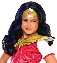 Rubies Costume Girls DC Super Hero Wonder Woman Wig I want to be wonder woman for halloween she is incredible! #DCcomics #wonderwoman #halloween #halloween2017 #superhero