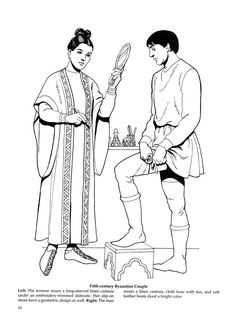 Byzantine Fashions 14 / Byzantine Fashions / Kids printables coloring pages