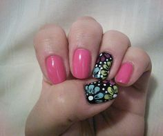 Awesome nails by Jeanette on Twitter inspired by one of my 3 Easy Flower designs video!