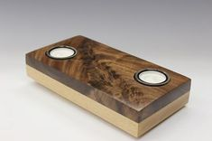 Alex Pettigrew created this double candle holder that shows off a beautiful piece of walnut.