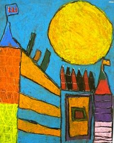 "For the Love of Art: 4th Grade: Paul Klee ""Castle & Sun"" Drawing"