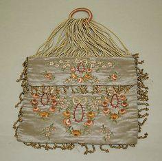 Purse  Date: 1910–15 Culture: French Medium: silk, metal