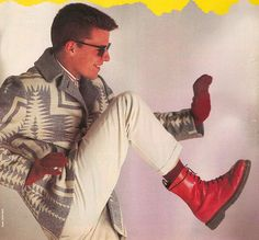 Suggs from Madness in his Dr Martens