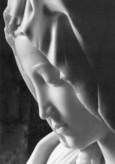 """Michelangelo's """"La Pieta"""". I think this is so beautiful and to think that it emerged from a block of marble is amazing. I have had a museum-quality replica of the Pieta's face (from the Metropolitan Museum of Art) hanging on my wall for about 30 years. ~Skye"""