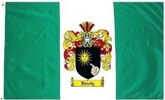 $49.99 Brady Family Crest / Coat of Arms Flag. Large 3 ft. x 5 ft. polyester flags.
