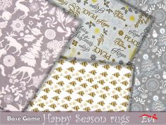 The Sims 4 najlepsze mody do gry: Dywany Happy Season od Evi Game Happy, The Sims 4 Download, Sims Community, Sims Resource, Sims Mods, Electronic Art, Delicate, Messages, Seasons