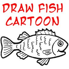 how to draw a cute cartoon fish step by step