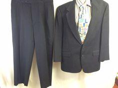 Austin Reed 2PC Mens Blue Sport Coat 43R Slacks Blazer 2 Button Menswear Lined #AustinReed #TwoButton