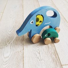 Janod Pull Along Mama Elephant Toy: Childrens Wooden Toy For The Nursery. wooden pull along toy, pull along toy, baby gift