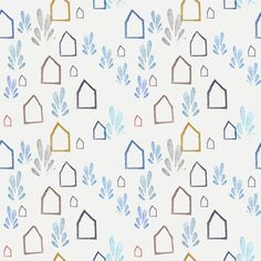 "Grafica di Nina Masina: ""Little Home"" #pattern #thecolorsoup #abstract #texture #colors #design #style #geometry"