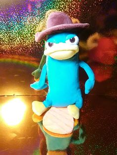 Disney Store Phineas and Ferb Small Perry The Platypus Agent P Plush Toy #phineasandferb #agentp