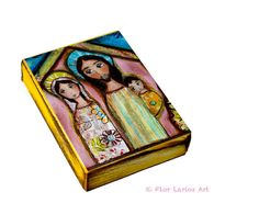 Nativity Night   Aceo Giclee print mounted on Wood by FlorLarios, $8.00
