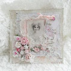 Анисса👩 Shabby-Chic &Vintage Friend Scrapbook, Scrapbook Cards, Heritage Scrapbooking, Scrapbooking Layouts, Vintage Cards, Vintage Stuff, Shabby Chic Cards, Beautiful Handmade Cards, Painted Boxes