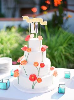 Inspired by This Turquoise, Orange and Coral Malibu Wedding