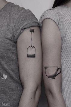 Creative couple tattoos // couple tattoo ideas // love tattoos // matching tattoos
