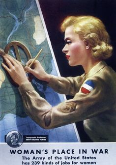z- Topographic Draftsman- Women's Army Corps- 'Woman's Place In War' w 239 Jobs (Prop- US, WWII)
