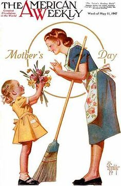"A lovely ""Mother's Day"" illustration by Joseph Christian Leyendecker – American illustrator Mothers Day Images, Mothers Day Cards, Mothers Love, Happy Mothers Day, Old Magazines, Vintage Magazines, Vintage Pictures, Vintage Images, Jc Leyendecker"