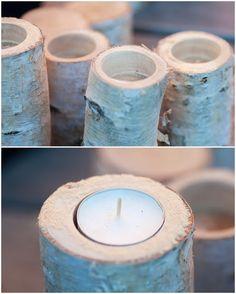 Herzenswärme: TYPISCH FÜR.... Tea Lights, Candle Holders, Candles, Autumn, Handmade, Lights, Simple, Creative, Hand Made