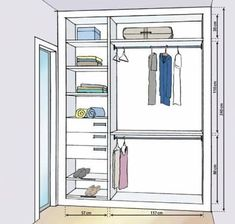 Image result for closet em l medidas