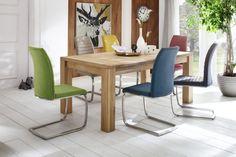 Celomasivní rozkládací jídelní stůl. 2 varianty materiálového provedení: dub bělený masiv, olejovaný nebo kořenový buk masiv, olejovaný. Dining Chairs, Dining Table, Kiwi, Furniture, Home Decor, Products, Dining Table Chairs, New Furniture, Cantilever Chair
