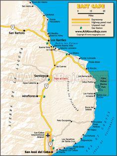 East Cape Baja Map