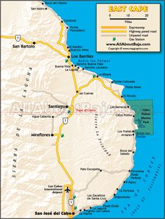 East Cape Baja Map