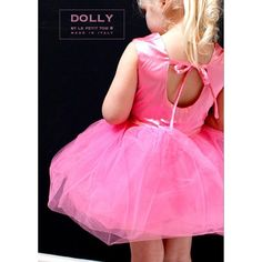 DOLLY by Le Petit Tom BALLET DRESS pink ❤ liked on Polyvore featuring dresses, couture dresses, going out dresses, doll dress, bubble dress and pink party dress