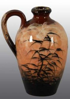 Rookwood Pottery Price Guide : Rookwood Brown Handled Vase