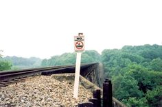Warning. Pope Lick Bridge, Kentucky.
