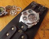 Russian Military Style Argento Compass & Termometro Doppio Tempo Steampunk orologio : Orologi di steamretro-italia