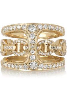 HOORSENBUHS by Robert Keith|Phantom 18-karat gold and diamond double ring