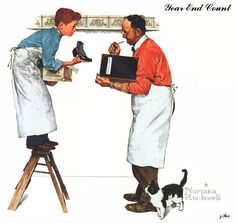 Christmas Homecoming - Norman Rockwell - WikiPaintings.org