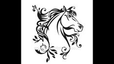 A horse to take you to your dreamworld. Covers area: h - x w - Small Tattoos Men, Mom Tattoos, Unique Tattoos, Tattoos For Guys, Horse Stencil, Stencil Art, Stencils, Stencil Templates, Badass Drawings