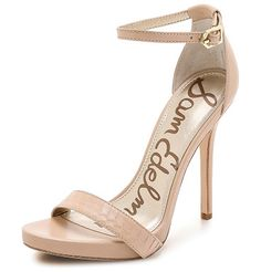 SAM EDELMAN Eleanor ankle strap sandals found on Nudevotion