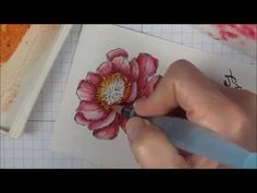 Tips to make watercoloring stamped images easy. Bloom with Hope