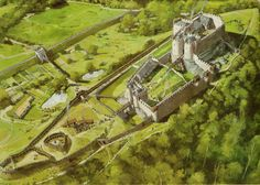 Montgomery Castle Reconstruction Wales 128 AD